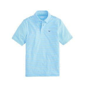 Vineyard Vines Boys Winstead Stripe Sankaty Polo